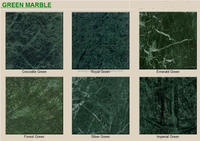 Cut to Size Polished Indian Green Marble Tile For Flooring