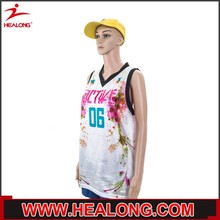 customized sublimation all pattern v neck youth best basketball uniform with cap