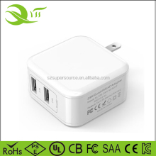 24W 4.8A 2-Port USB Wall Charger Hub for Apple iPhone 7 / 6 / 6 Plus, iPad Air 2 / mini 3, Galaxy S6 / S6 Edge, Nexus