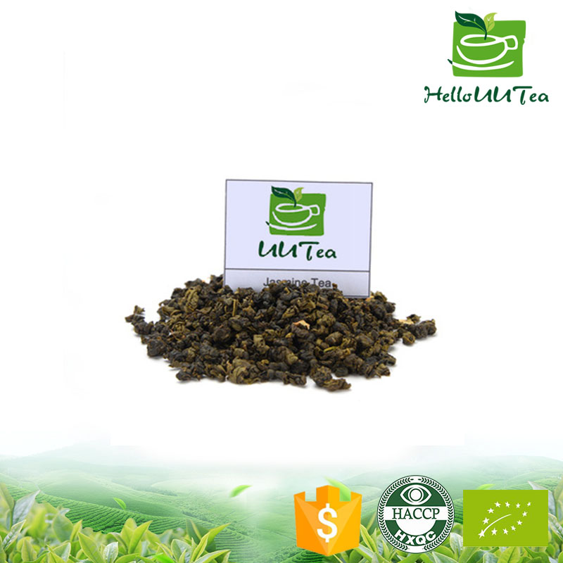 100% nature chinese green tea material sweet after taste jasmine green tea with fresh jasmine flowers