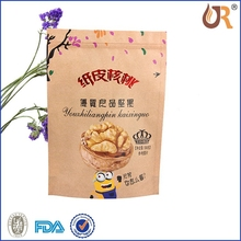 walnuts packing bag/nuts aluminum foil ziplock zipper food snack doypack/kraft paper nuts packing bag