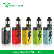 Selectable coils switch Tank LED indicators 8mL 222W Kangertech FIVE 6 Kit