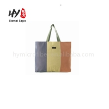 Heavyweight strip printed canvas tote bag