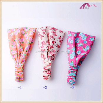 Fabric Flower Elastic Headband Hair Accessories Wholesale China