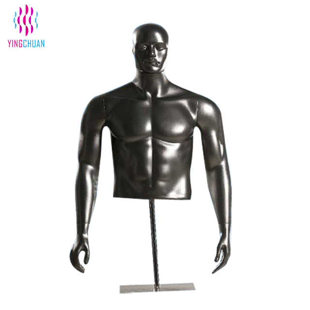 Upper half body men strong muscle cheap fiberglass male mannequins
