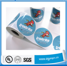 Custom imprint roll pack any products instruction labels sticker