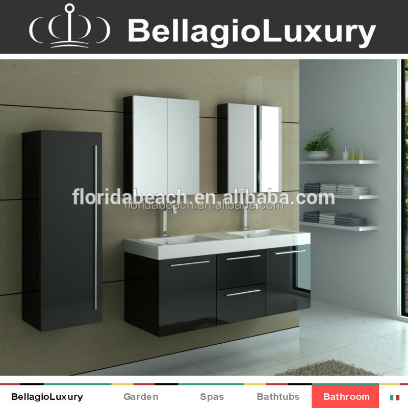 Slim bathroom vanity, PVC vanity furniture, TONA series bathroom furniture