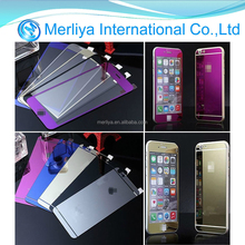 Colorful Tempered Mirror Glass Full Screen Protector for Apple iPhone 6 plus