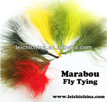 in stock Multi color marabou and bucktail fly tying marabou feathers