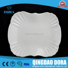 white antique porcelain plates /cheap bulk porcelain appetizer plates/white rectangle porcelain plates