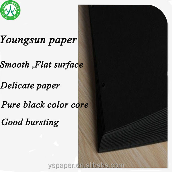 Great quality thin black paperboard/black cardboard manufacturer