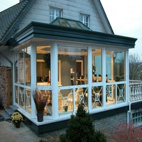 Energy-saving temperede Insulated Glass Sunroom glass house sun room
