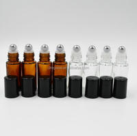 5ml mini roller glass roll on bottles with stainless steel metal balls