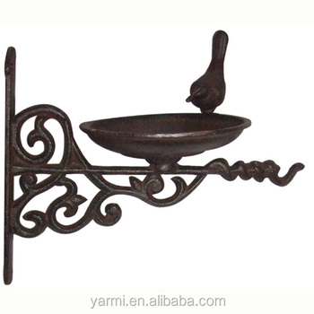 ANTIQUE CAST IRON BIRD BATH