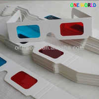 promotional durable custom disposalbe 3d foldable paper glasses OEM design