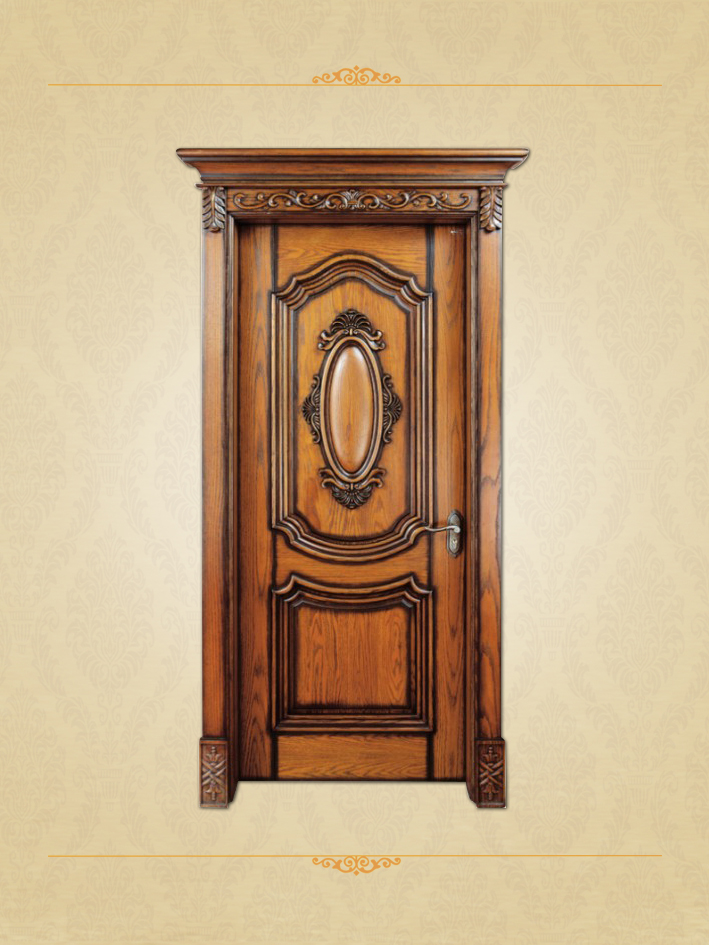 Classical Style Cheap Price Interior Wooden Door