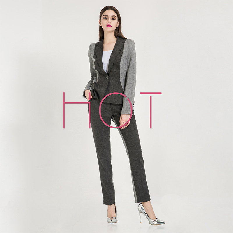 2016 New Custom Tuxedos Fashion Women's Suits Slim Office Lady Wear Women Casual Business Suit(Jacket+Pants)