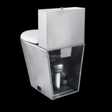 stainless steel waterless toilet p/s-trap with cistern