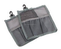 Hanging Cosmetic Mesh Bag with Hook, Shower Storage Organizer