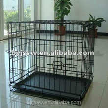 "24"" 30"" 36"" 42"" 48"" Black Metal Wire Dog Cage with Metal Tray"