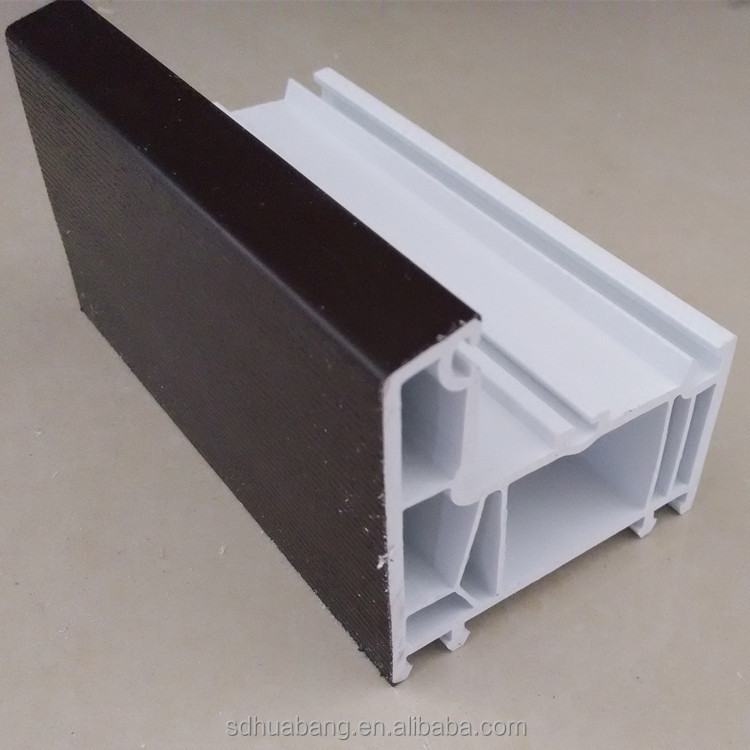 pvc profile decco wooden door frame profile with plastic corner joint/double angle bead/double glazing profile