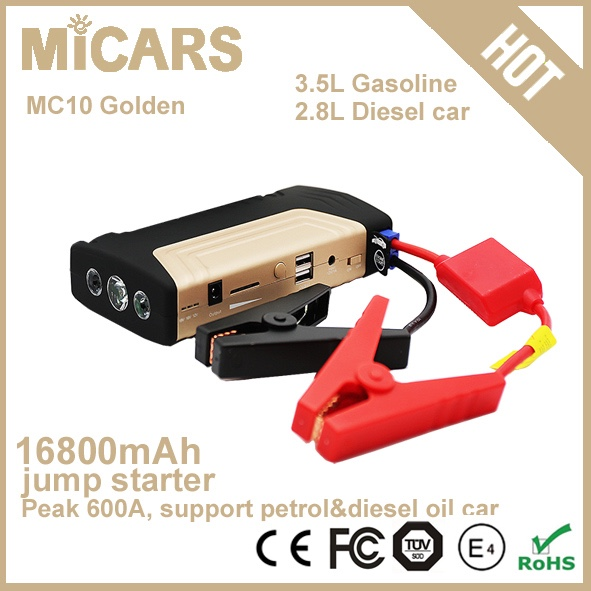 Powerful emergency tool multi-function mini booster 12v jump starter