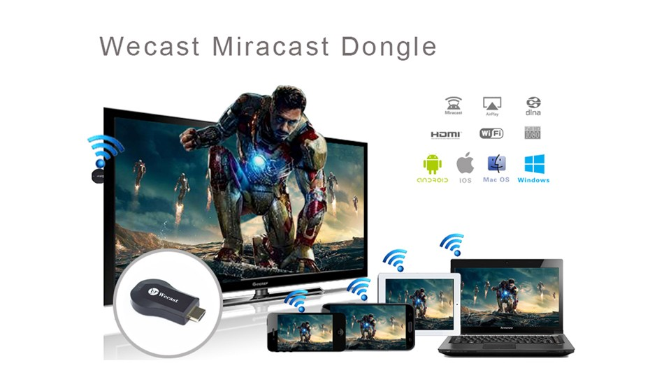 Wecast C2 3036 Miracast Dongle Display anycast Airplay TV Receiver Dongle