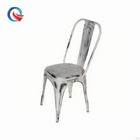 Newly best selling platio hall banquet iron stackable industrial chairs