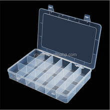 China supply 18 compartments plastic parts storage case for hardware and craft