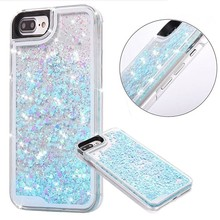 Quicksand Moving Hearts Bling Glitter Floating Dynamic Flowing Case Liquid Cover for IPhone 7 Plus --------- Laudtec