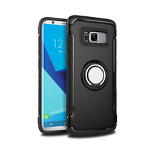360 Degree Rotation Phone Ring Holder Back Cover Case For Samsung Galaxy S8 Mobile Phone