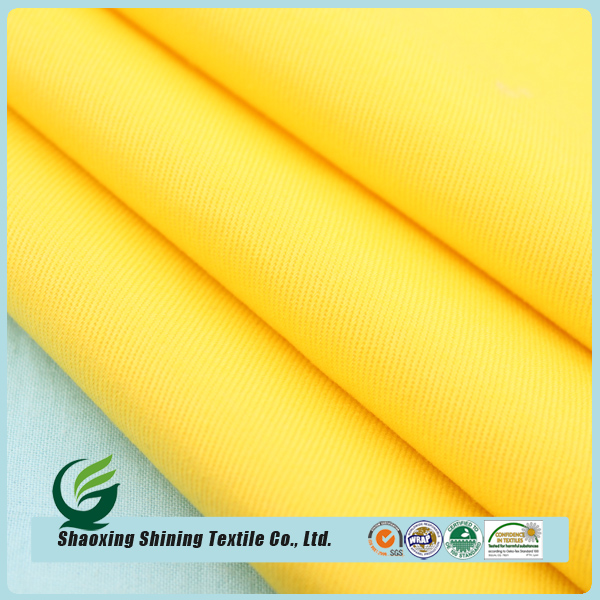 Hot Sale Newest waterproof cotton twill with pu coating fabric for clothing