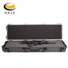 Ningbo Jiaxi waterproof IP67 hard plastic carrying rifle gun case with wheels