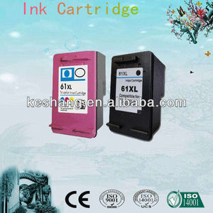 compatible color refill ink cartridge for HP61(CH561WN) for HP Deskjet 1000 series printers made in china
