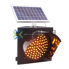 outdoor solar traffic warning flashing amber light