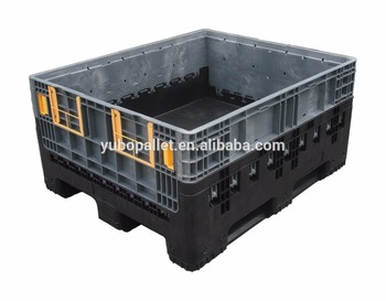 Factory hot sales waterproof hard plastic box vented pallet storage container