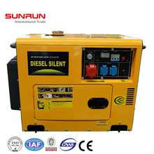 portable 5000 watt home use silent type diesel generator
