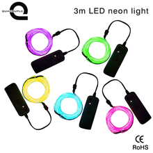 Best price 3m 18led 3v neon light for shoes decoration