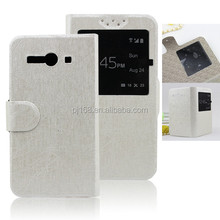 TPU inner shell ,window display time flip for receiver leather case for Lenovo S920