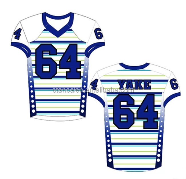 Design your own american football jersey factory wholesale