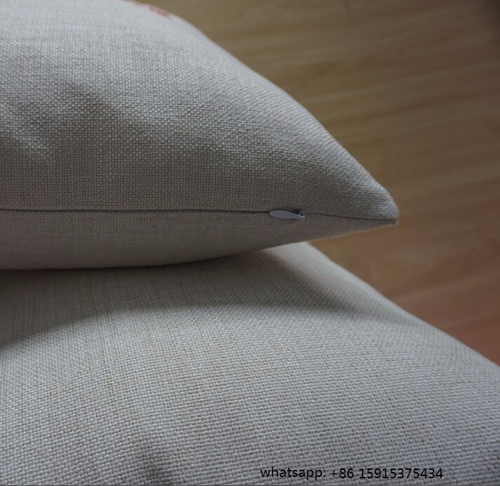18x18 inches plain burlap cushion cover blank cotton linen throw cushion cover