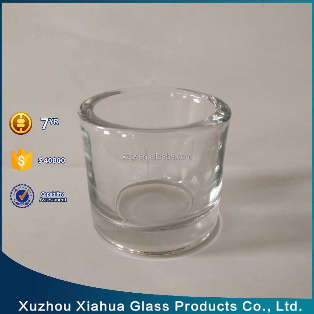 100ML thick wall glass candle cup/glass candle holder