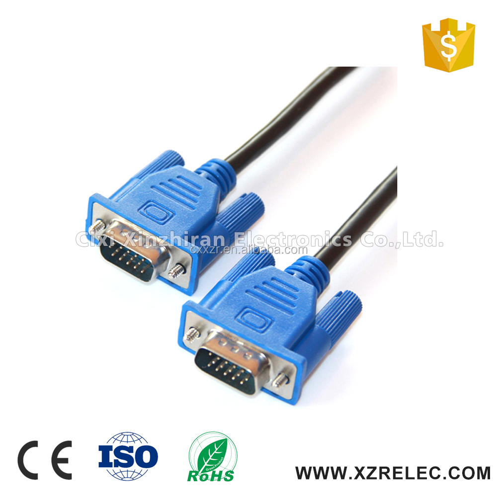 High Quality HD-15 Male To HD-15 Male Connector VGA Cable