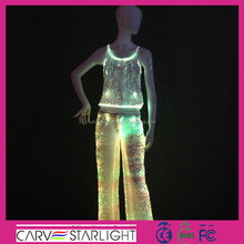 Glow in the dark girls costume light up dance wear for adult costume