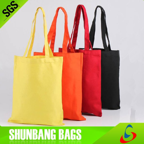Eco-friendly recycled high quality cheap promotion wholesale manufacturer custom colorful tote 100% cotton canvas bag