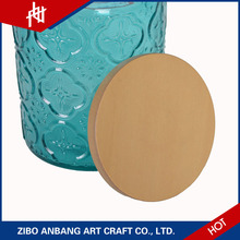 Most popular natural beauty ceramic jar with wooden lid