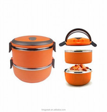 Hot Sale Two Layers Stainless Steel School Kids Bento Lunch Box/ Food Storage Container/Portable Pet Dog travel outdoor food box