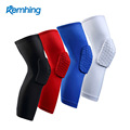 Hot sell Amazon Anti-slip Lycra sports athletics Honeycomb Padded Knee Compression Sleeve Support