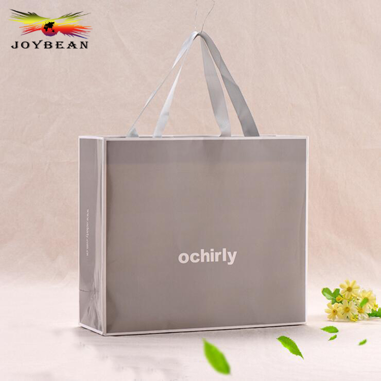 Wholesale Custom Printed Recycled T Shirt Packaging Bags/Gift Paper Bags