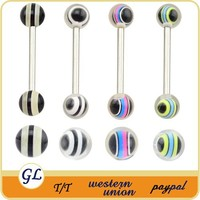 TR01033 resin tongue barbell body piercing , tongue body piercing